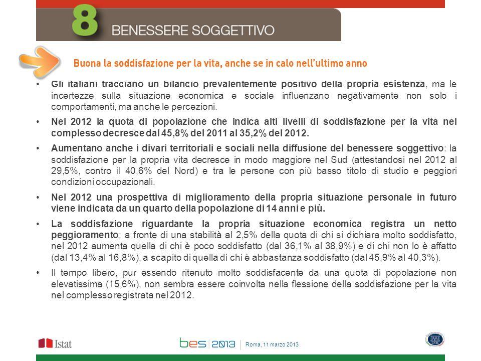 Gli italiani tracciano un bilancio prevalentemente positivo della propria esistenza, ma le incertezze sulla situazione economica e sociale influenzano