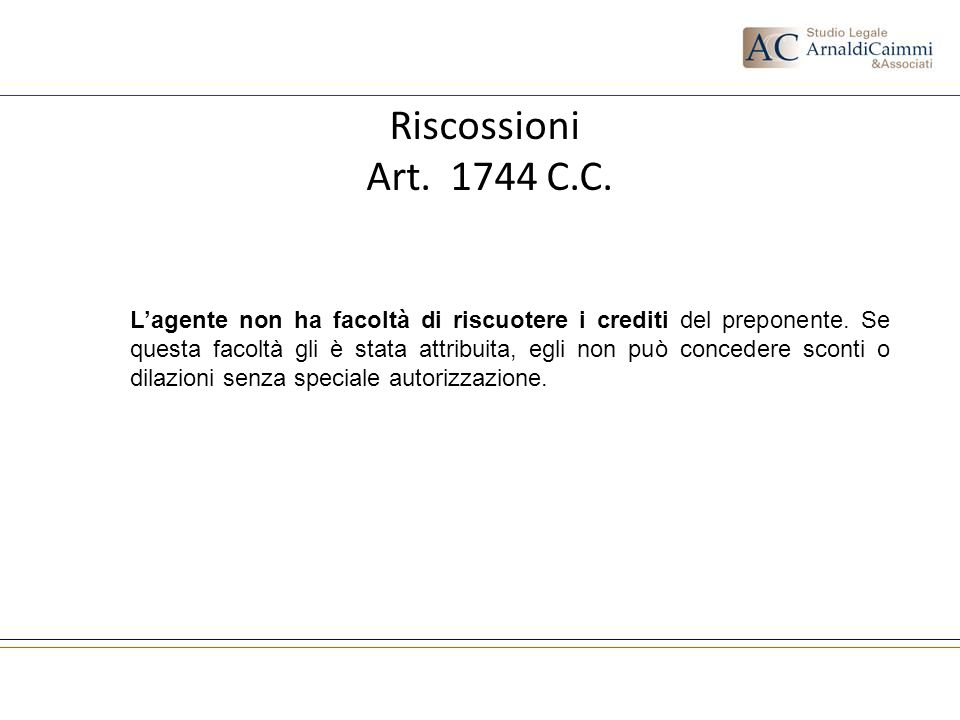 Riscossione Crediti - Art.