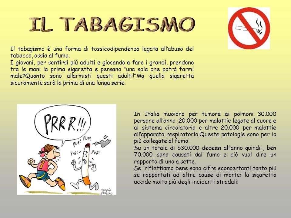 In Italia muoiono per tumore ai polmoni 30.000 persone allanno,20.000 per malattie legate al cuore e al sistema circolatorio e altre 20.000 per malatt