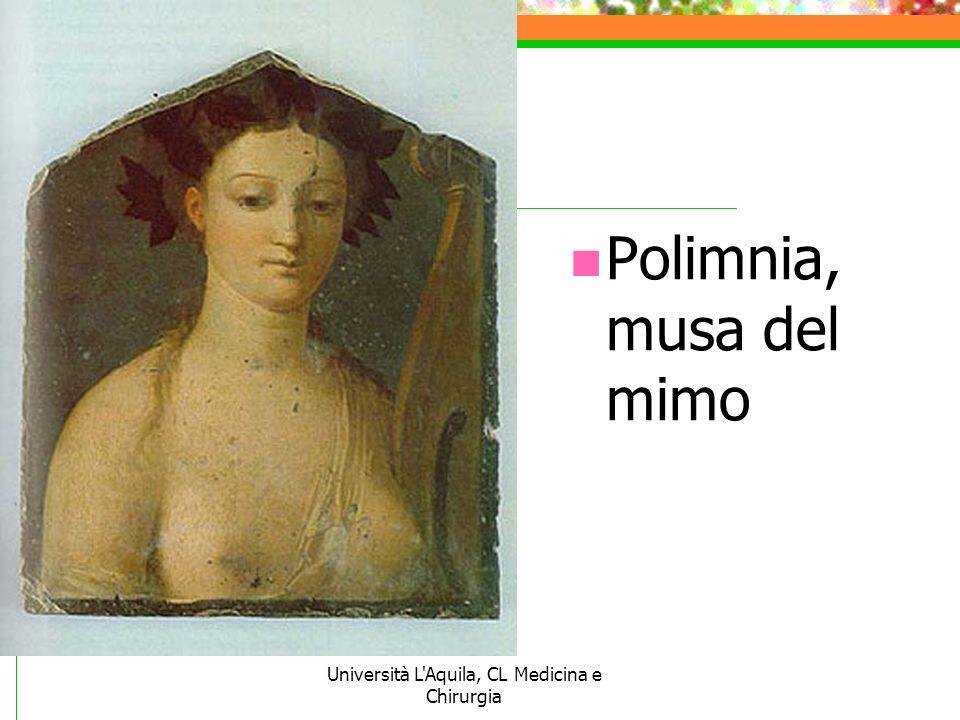 Università L'Aquila, CL Medicina e Chirurgia Polimnia, musa del mimo