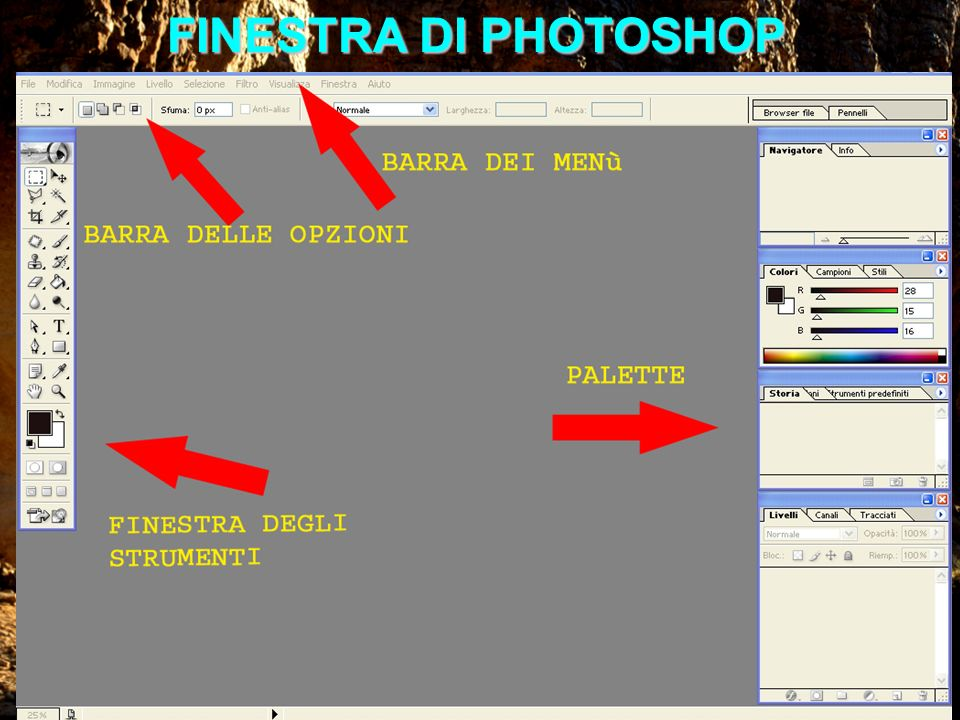FINESTRA DI PHOTOSHOP