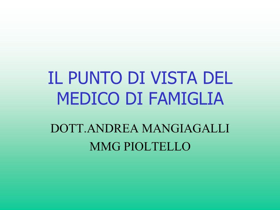 IL PUNTO DI VISTA DEL MEDICO DI FAMIGLIA DOTT.ANDREA MANGIAGALLI MMG PIOLTELLO