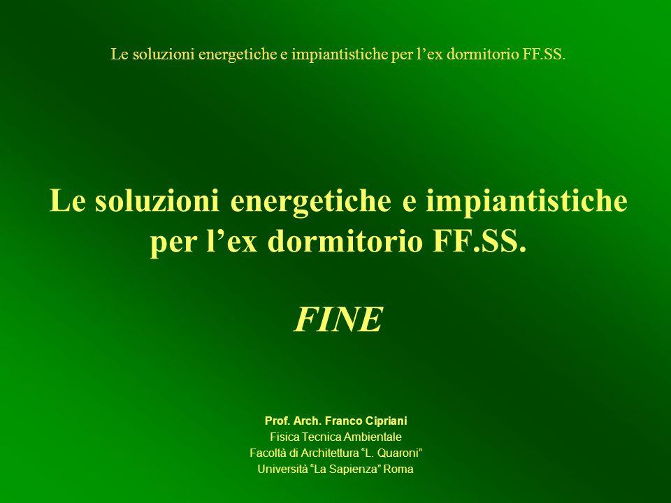 Le soluzioni energetiche e impiantistiche per lex dormitorio FF.SS.