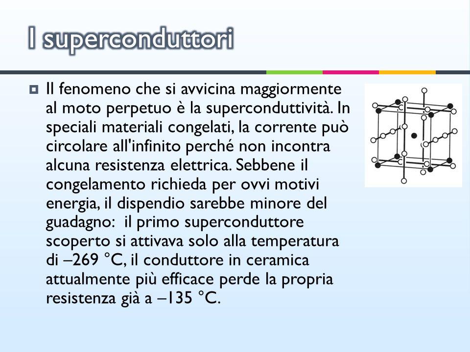 Il fenomeno che si avvicina maggiormente al moto perpetuo è la superconduttività. In speciali materiali congelati, la corrente può circolare all'infin