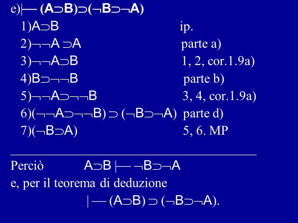 d)   ( B A ) ( A B ) 1) B A ip.2) A ip.
