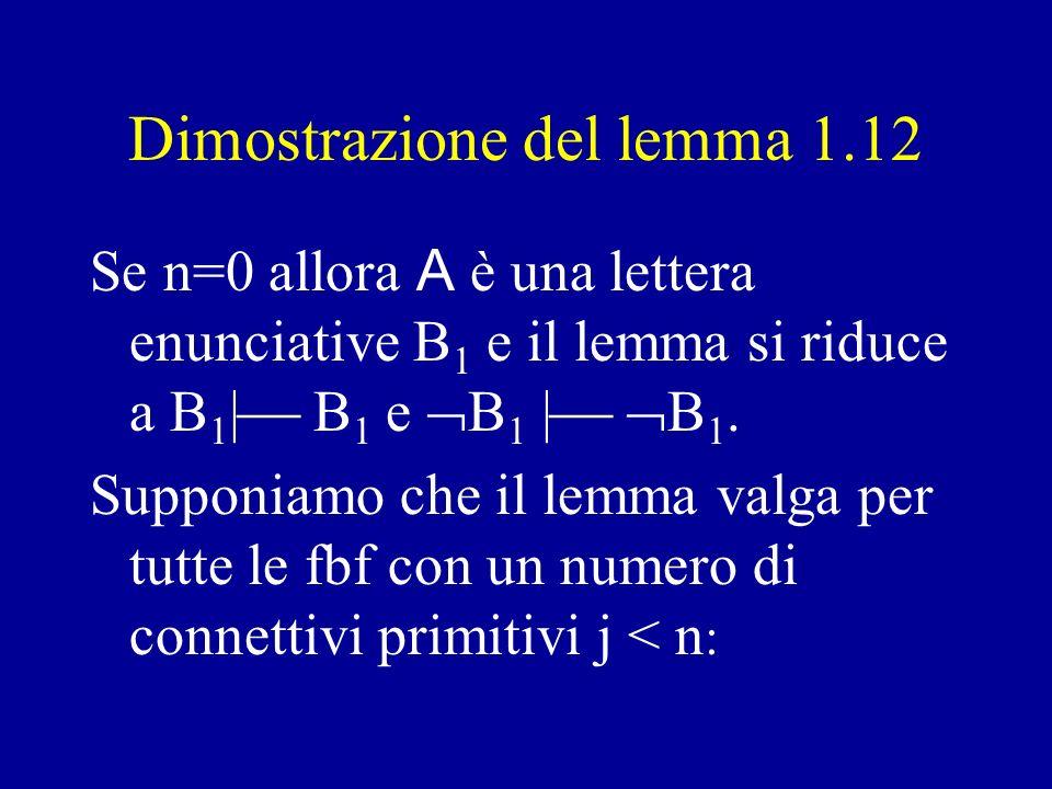 Esempio di applicazione del lemma 1.12