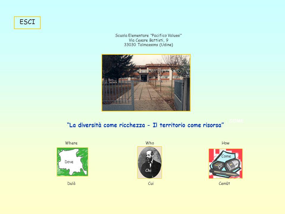 Scuola Elementare Pacifico Valussi Talmassons (Udine) SE VUOI CONOSCERE LA SCUOLA NOSTRA, CLICCA IL PULSANTE CREATO APPOSTA