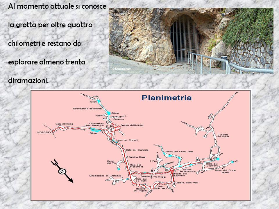 Il percorso GLI ABISSI DELLA LUCE ha inizio dalla Galleria Intermedia attraverso due scale a pioli.