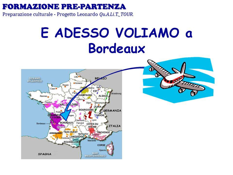 E ADESSO VOLIAMO a Bordeaux FORMAZIONE PRE-PARTENZA Preparazione culturale - Progetto Leonardo Qu.A.Li.T._TOUR.