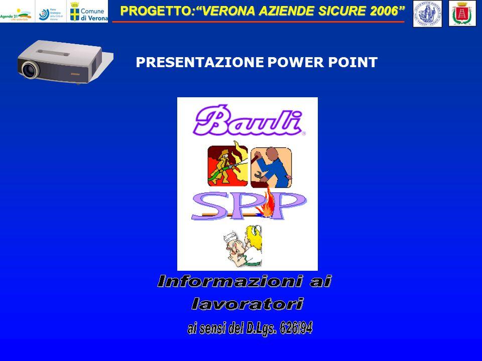 PROGETTO:VERONA AZIENDE SICURE 2006 PRESENTAZIONE POWER POINT