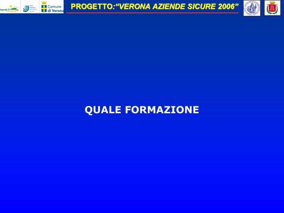 PROGETTO:VERONA AZIENDE SICURE 2006 QUALE FORMAZIONE