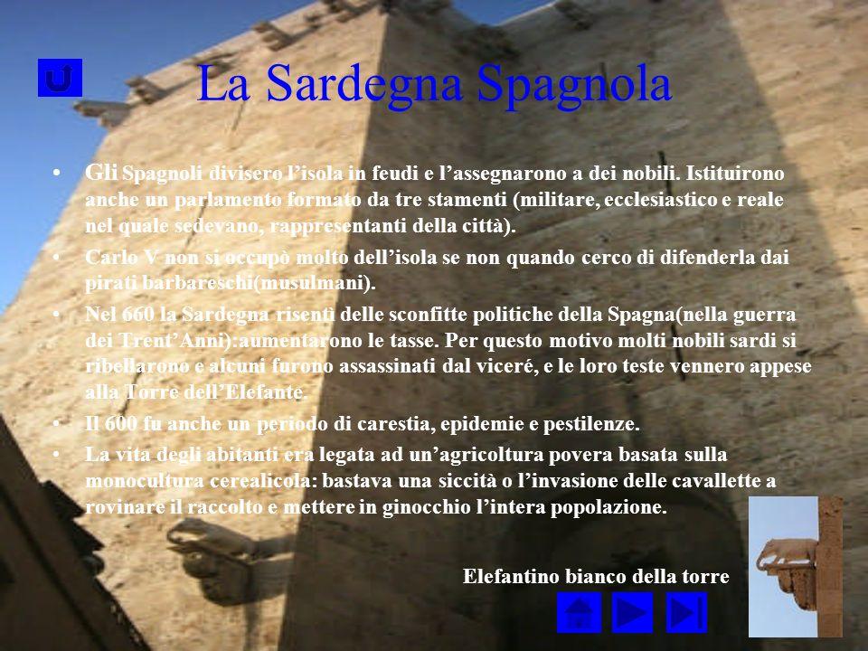 La Sardegna Spagnola Gli Spagnoli divisero lisola in feudi e lassegnarono a dei nobili.