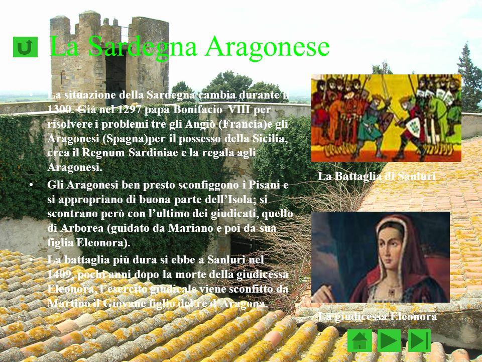 La Sardegna Aragonese La situazione della Sardegna cambia durante il 1300.