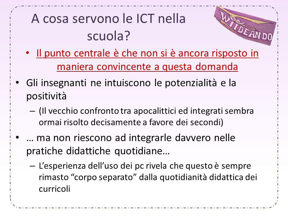 A cosa servono le ICT nella scuola.