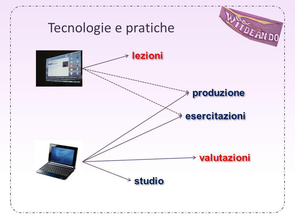 Tecnologie e pratiche lezioni produzione esercitazioni valutazioni studio