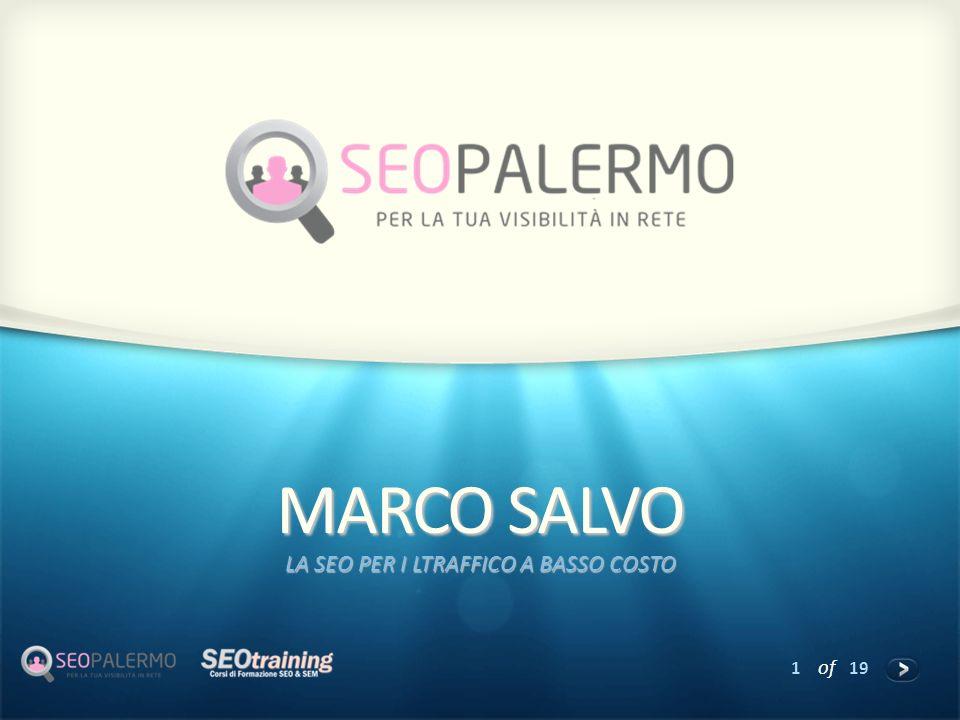 1 of 19 MARCO SALVO LA SEO PER I LTRAFFICO A BASSO COSTO