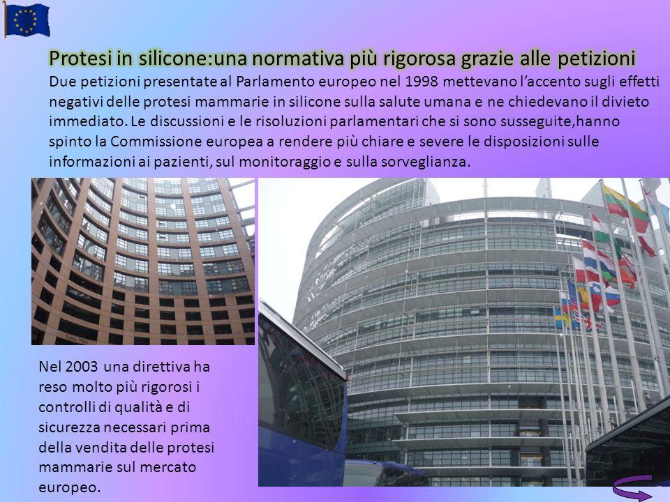 Nel 2003 una direttiva ha reso molto più rigorosi i controlli di qualità e di sicurezza necessari prima della vendita delle protesi mammarie sul merca