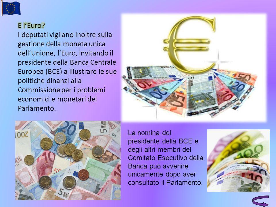 La nomina del presidente della BCE e degli altri membri del Comitato Esecutivo della Banca può avvenire unicamente dopo aver consultato il Parlamento.