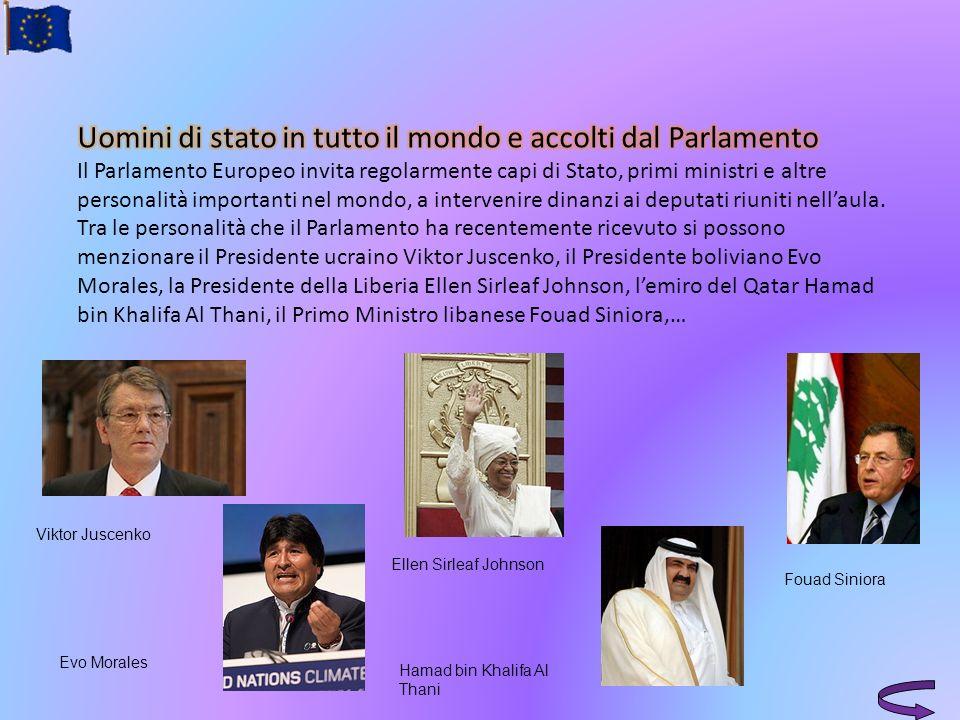 Viktor Juscenko Evo Morales Ellen Sirleaf Johnson Hamad bin Khalifa Al Thani Fouad Siniora