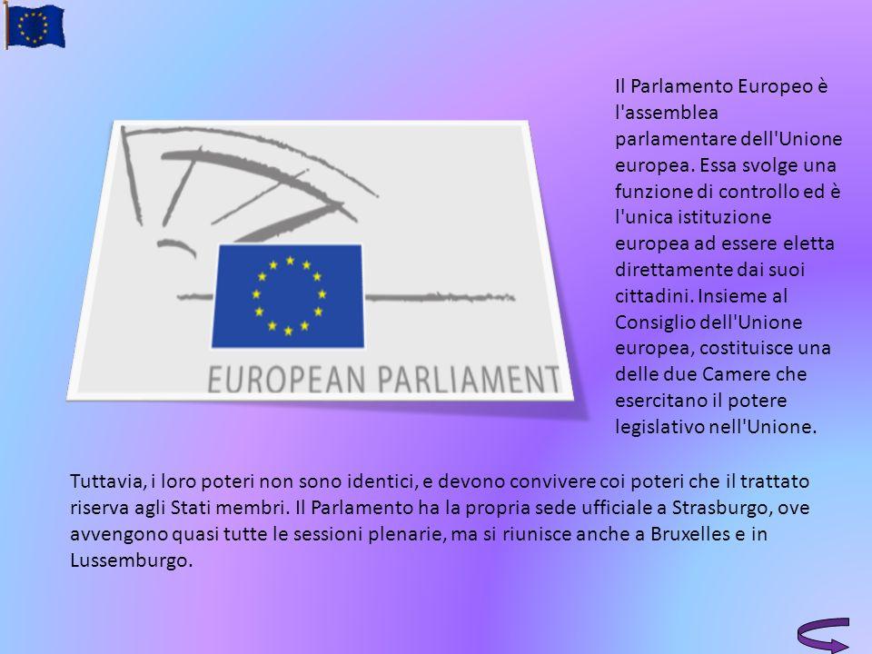Il Parlamento Europeo è l'assemblea parlamentare dell'Unione europea. Essa svolge una funzione di controllo ed è l'unica istituzione europea ad essere