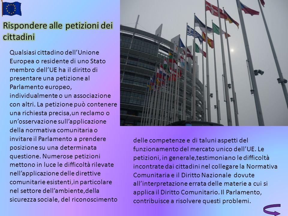 Qualsiasi cittadino dellUnione Europea o residente di uno Stato membro dellUE ha il diritto di presentare una petizione al Parlamento europeo, individ