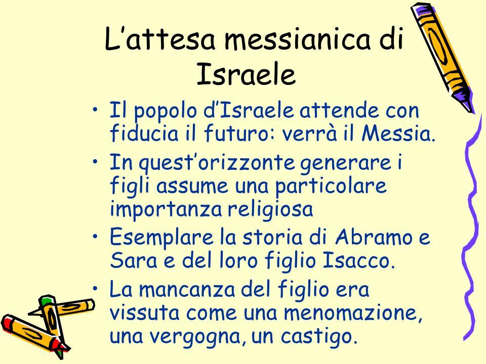 Lattesa messianica di Israele Il popolo dIsraele attende con fiducia il futuro: verrà il Messia.