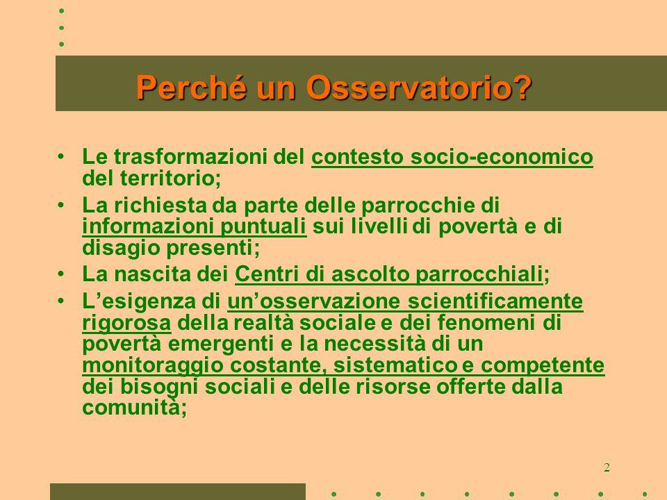 2 Perché un Osservatorio.