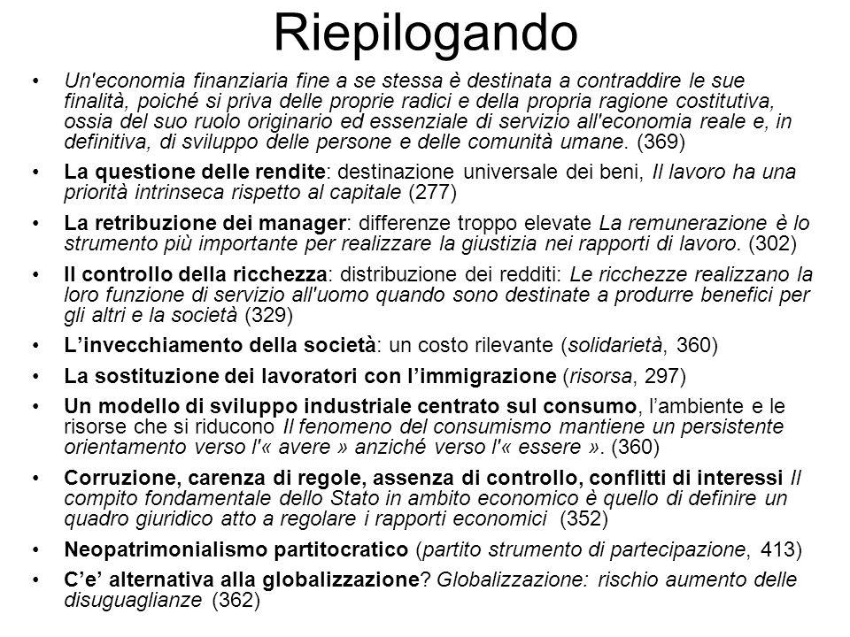 Dati economici - 1 Il Governo ha sottovalutato la crisi, nel DPEF di luglio prevedeva per il 2009 una CRESCITA dello 0,9% (-5,0%) delleconomia e 1,2% di deficit/pil (5,0%) +0,5% di occupazione (-4% 880.000 posti) Lindebitamento netto in rapporto al PIL dopo avere raggiunto il 12,4% nel 1985, ha cominciato a decrescere fino a raggiungere nel 2000 il minimo 0,8% Successivamente il deficit (Berlusconi) ha ripreso a salire toccando il 3,4% nel 2006 per poi scendere nel 2007 a 1,9% del PIL, ora siamo di nuovo al 5% PIL 2009 -2,1% (ora -5,0%); - 2010 -0,1%; (-1,0%) FMI Disoccupazione (USA 7,6% 500.000 al mese in meno, Eurozona 8%, Giappone 4,4%) ultimo dato italiano 6,0% nel 2008, sembra -150.000 al mese nel 2009 (11% a fine anno) Debito/PIL 2008: 2008: 105,7%; (105,9% Governo) 2009: 108,2%(111,2% Governo) 117% 2010: 109,7% (112,5% Governo) 125% Deficit/PIL: 2008: 2,6% - 2009: 5,0% - 2010: 5,0% Pressione fiscale 2008: 43% - 2009: 43,4% Incassi tributari in calo: -1,8 miliardi in gennaio (+500 nel 2008)
