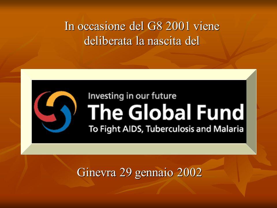 Ginevra 29 gennaio 2002 In occasione del G8 2001 viene deliberata la nascita del