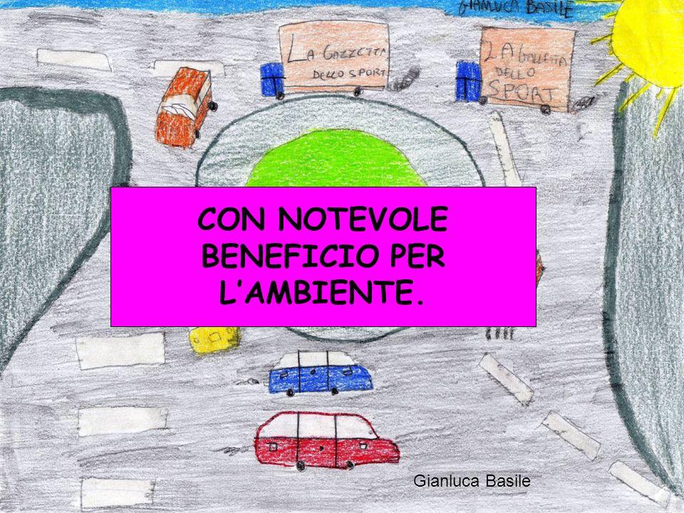 Gianluca Basile CON NOTEVOLE BENEFICIO PER LAMBIENTE.