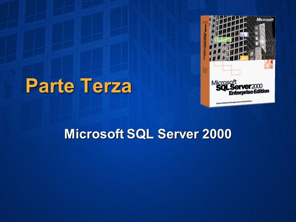 Parte Terza Microsoft SQL Server 2000