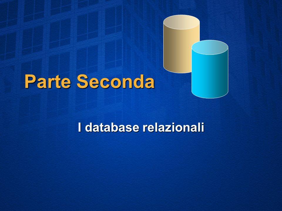 Parte Seconda I database relazionali