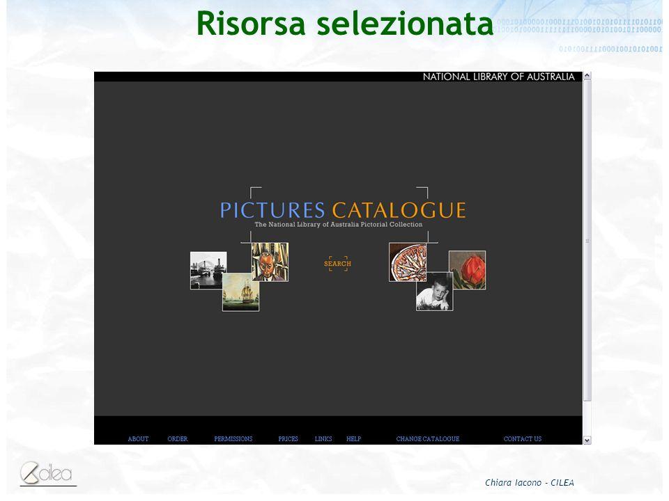 Chiara Iacono - CILEA Risorsa selezionata