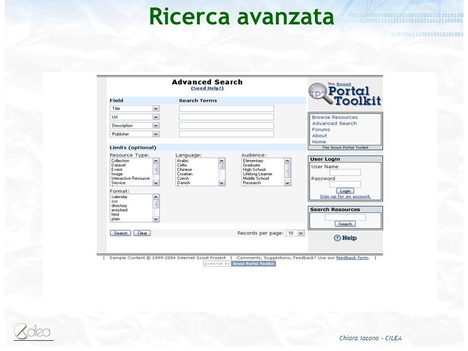 Chiara Iacono - CILEA Ricerca avanzata
