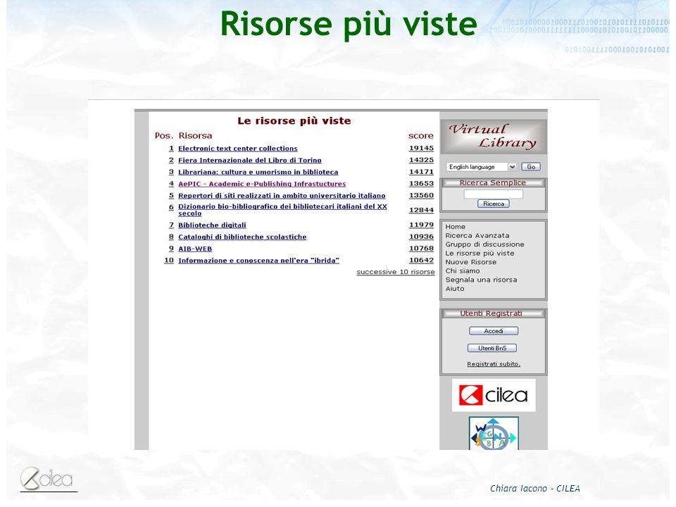 Chiara Iacono - CILEA Risorse più viste