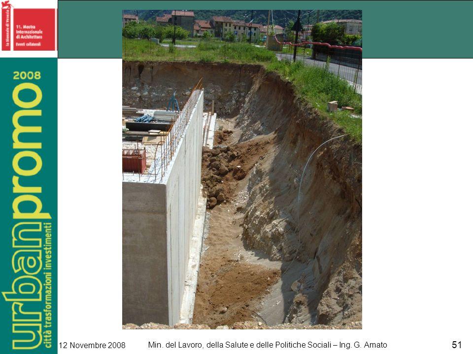 Min. del Lavoro, della Salute e delle Politiche Sociali – Ing. G. Amato 12 Novembre 2008 51