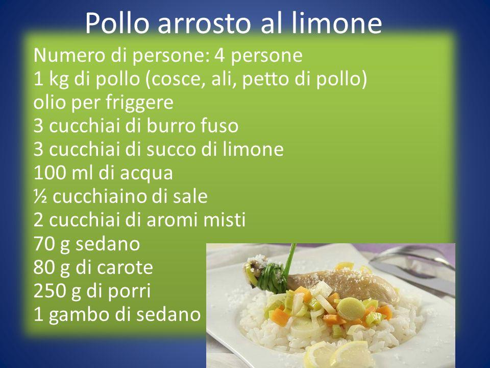 Numero di persone: 4 persone 1 kg di pollo (cosce, ali, petto di pollo) olio per friggere 3 cucchiai di burro fuso 3 cucchiai di succo di limone 100 m