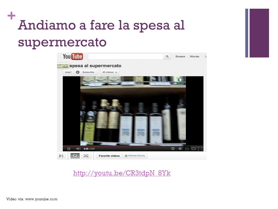 + Andiamo a fare la spesa al supermercato http://youtu.be/CR3tdpN_8Yk Vídeo vía: www.youtube.com