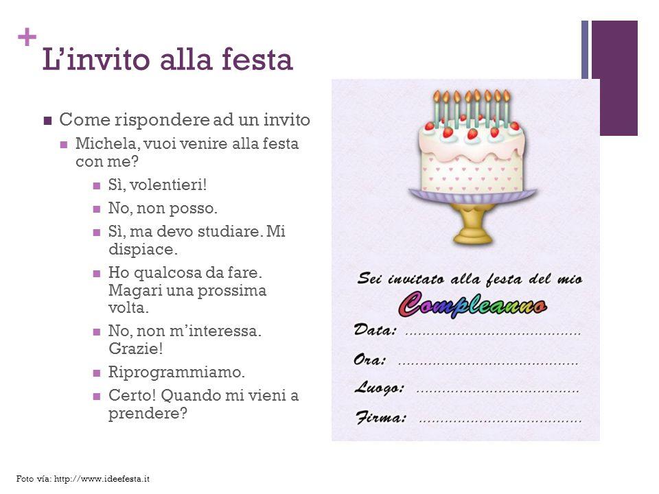 + La lista degli invitati: Dando delle suggerimenti Riccardo vuole dare una festa a casa sua.