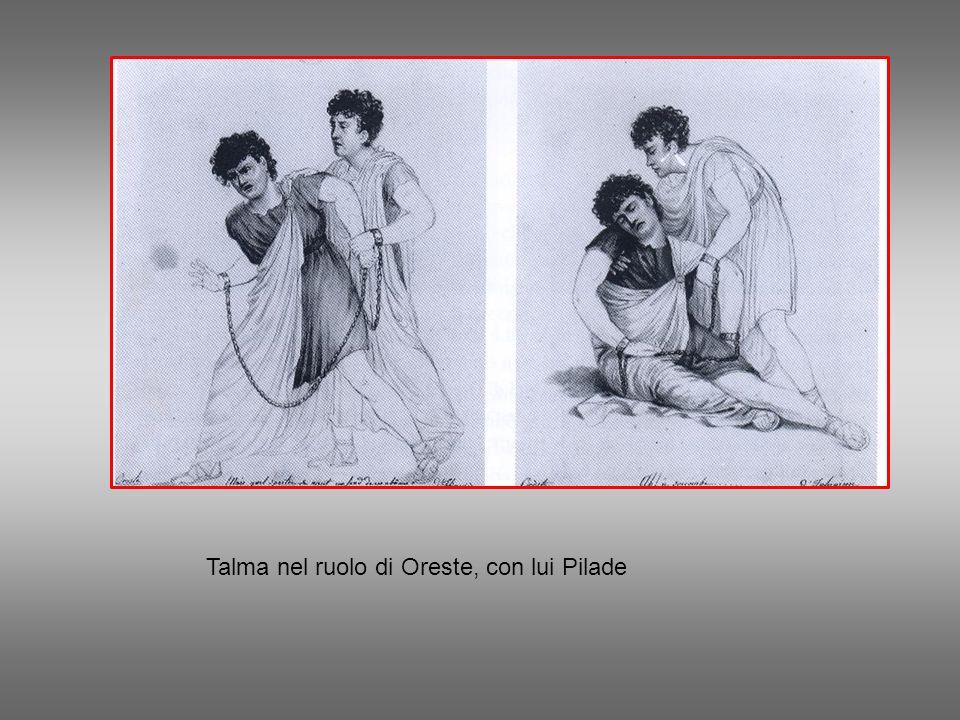 Talma nel ruolo di Oreste, con lui Pilade