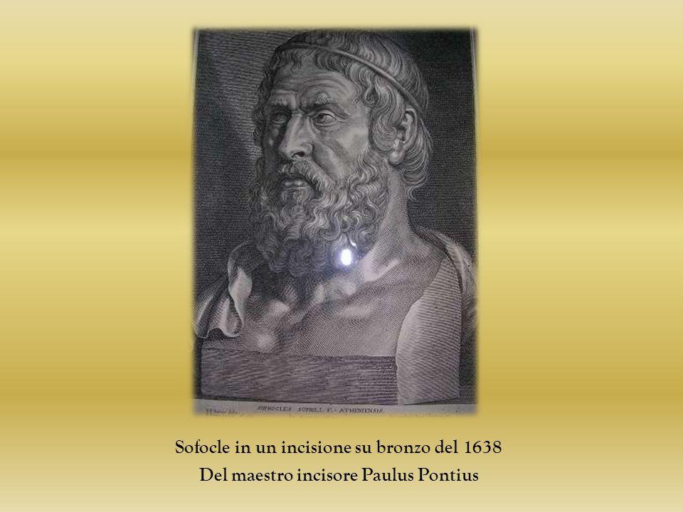 Sofocle in un incisione su bronzo del 1638 Del maestro incisore Paulus Pontius