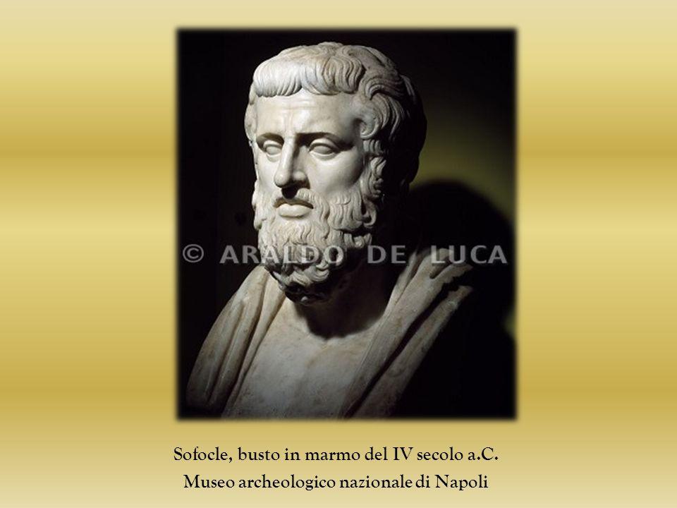 Sofocle, busto in marmo del IV secolo a.C. Museo archeologico nazionale di Napoli