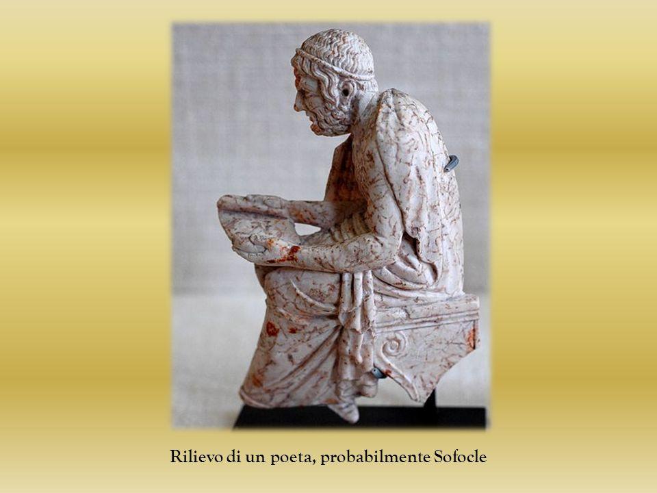 Rilievo di un poeta, probabilmente Sofocle