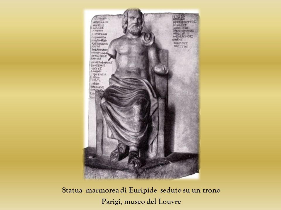 Statua marmorea di Euripide seduto su un trono Parigi, museo del Louvre