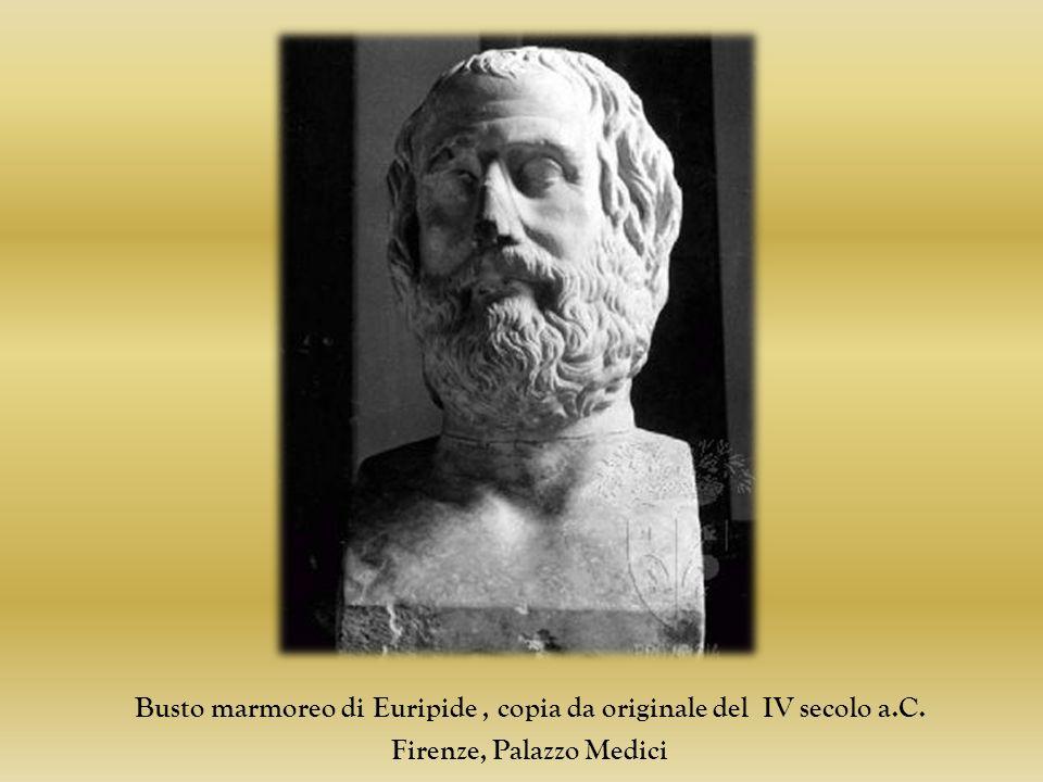Busto marmoreo di Euripide, copia da originale del IV secolo a.C. Firenze, Palazzo Medici