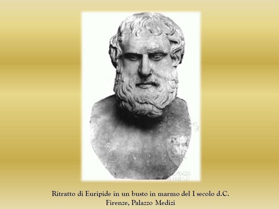 Ritratto di Euripide in un busto in marmo del I secolo d.C. Firenze, Palazzo Medizi