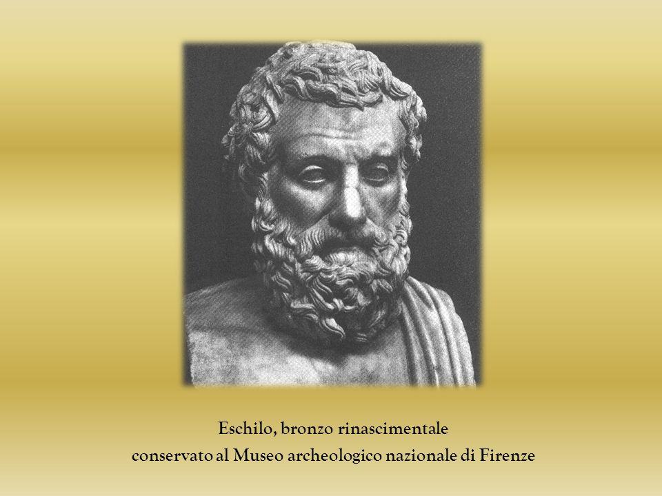 Eschilo, bronzo rinascimentale conservato al Museo archeologico nazionale di Firenze