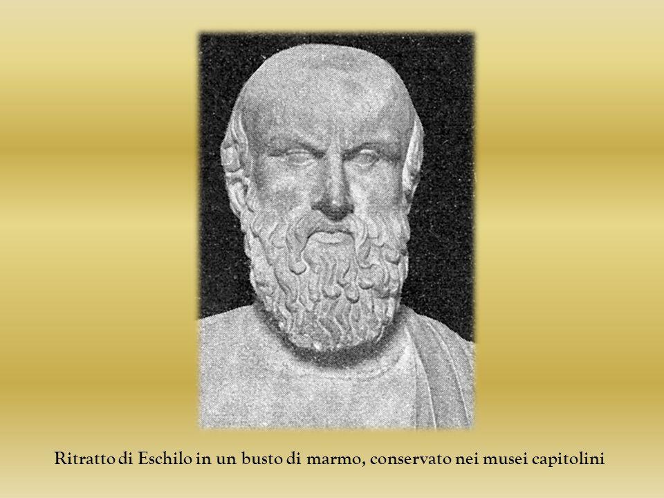 Ritratto di Eschilo in un busto di marmo, conservato nei musei capitolini