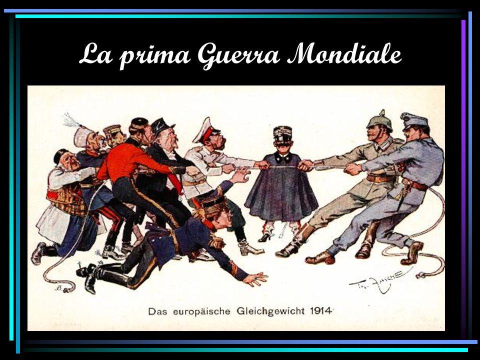1915 LItalia, che vuole conquistare le zone culturalmente italiane sotto il controllo austriaco, entra in guerra contro gli Imperi Centrali (Trattato di Londra).