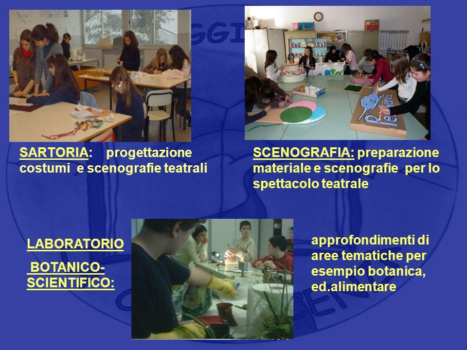 Area : scientifica Area : tecnico - operativa Area : tecnico - operativa SARTORIA: progettazione costumi e scenografie teatrali SCENOGRAFIA: preparazi